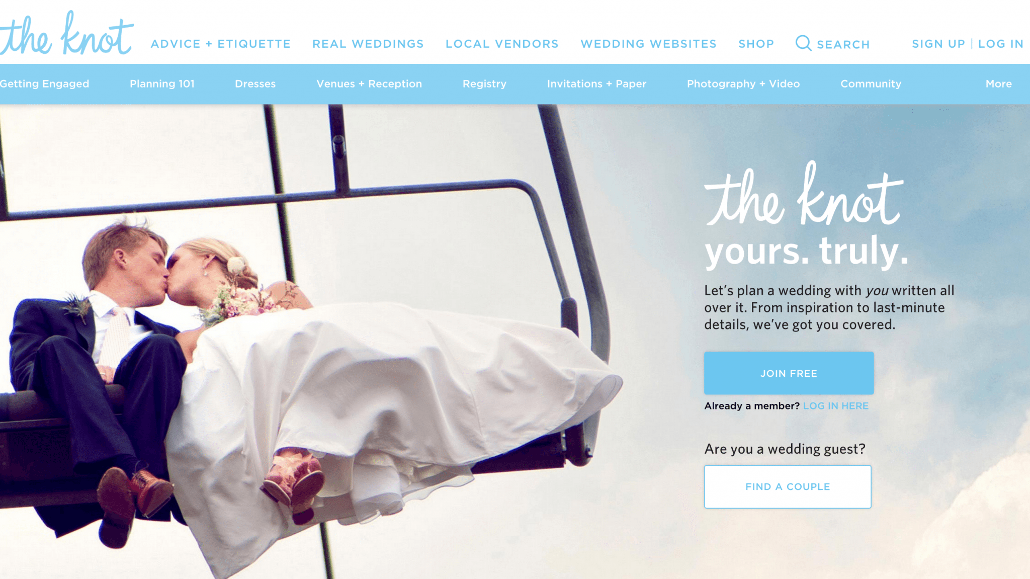 Wedding Website — The Knot