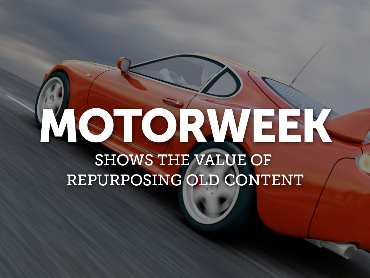MotorWeek Shows the Value of Repurposing Old Content - Pace