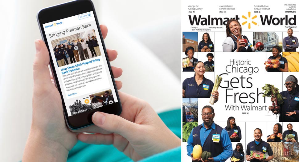 Our mobile-optimized website, WalmartWorld.com, is fueled by associate conversation.