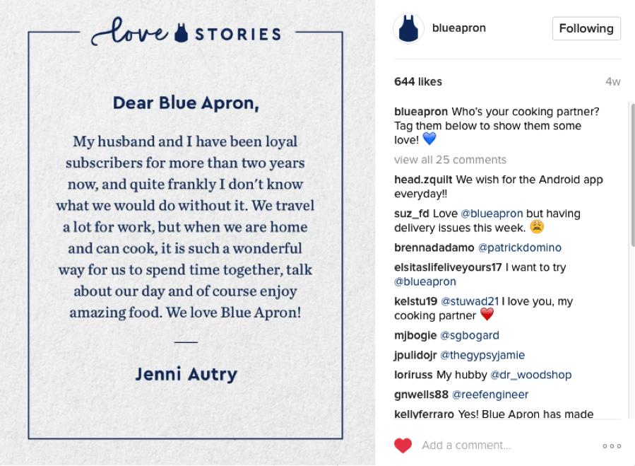 Blue Apron Love Stories