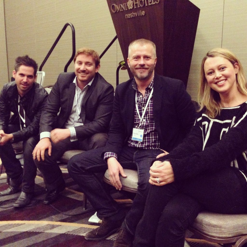 Left to right: Turner Barr, Founder of AroundtheWorldin80Jobs.com; Stephen Oddo, Co-Founder of Walks of Italy; Darren Frei, Digital Editorial Director of Four Seasons Magazine; Erin Street, Senior Editor of Travel & Integrated Content at Southern Living.