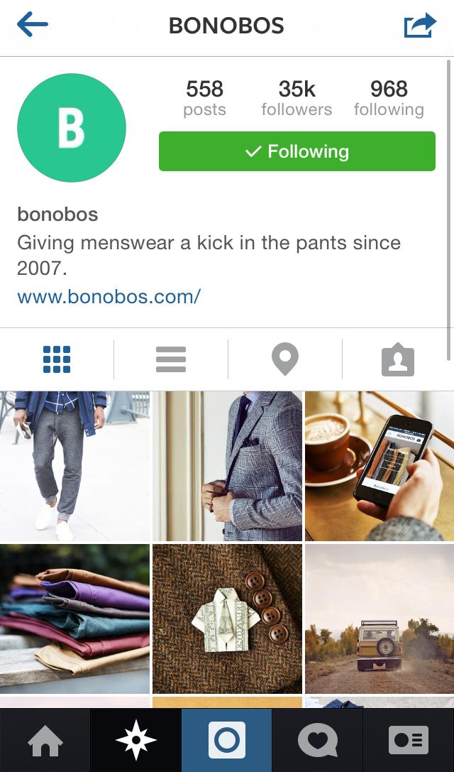 Bonobos Profile Page