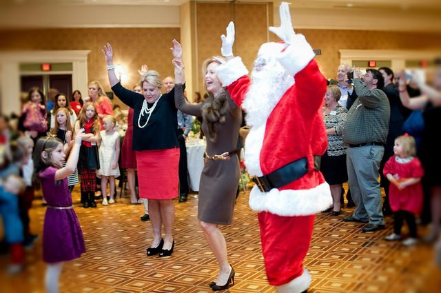 Bonnie, Gail, and Santa