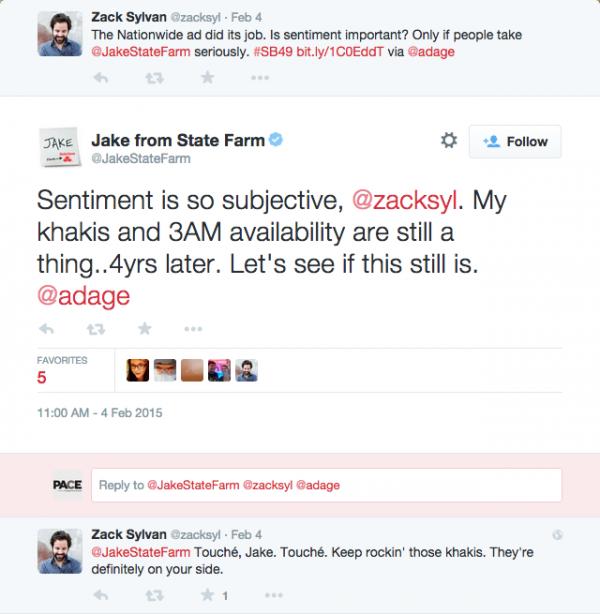Jake State farm twitter response