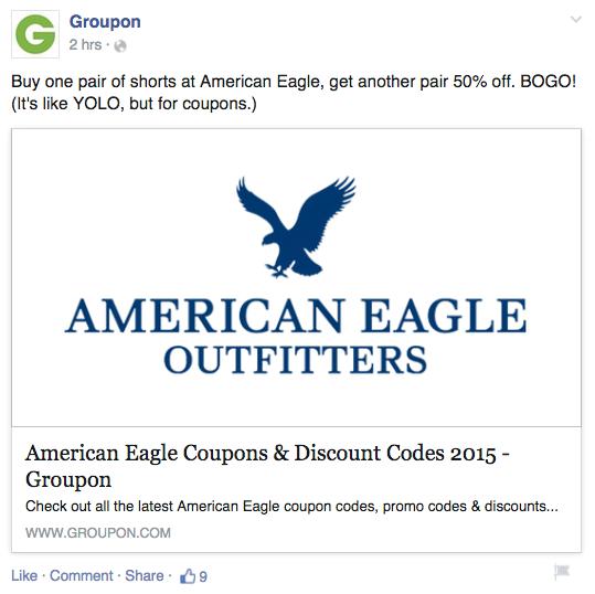 Groupon Facebook