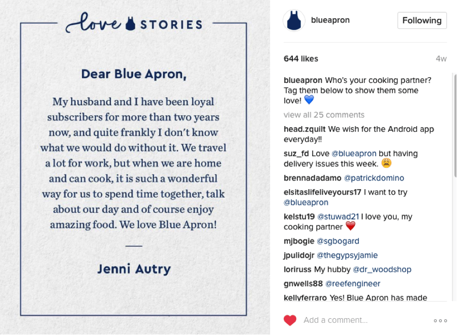 Blue Apron Love Stories