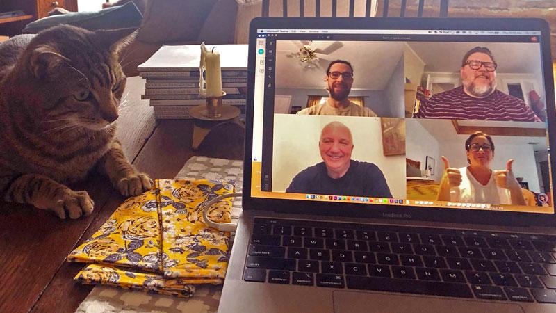 Pace staff meet via Microsoft Teams during coronavirus pandemic